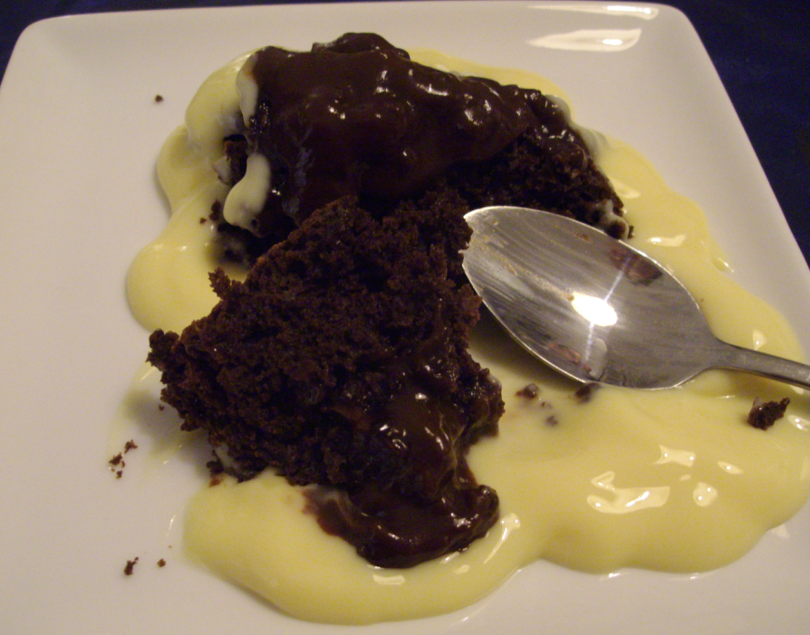 Melt in your mouth self-saucing Chocolate pudding