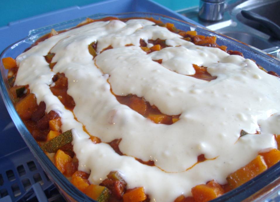 how to make vegetarian moussaka