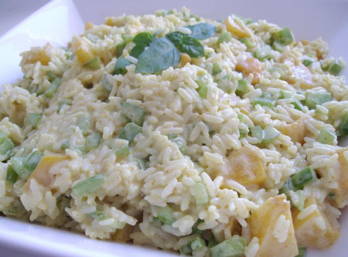 Curried Peach Rice Salad | whyiamnotskinny