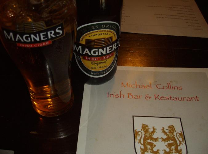michael collins menu