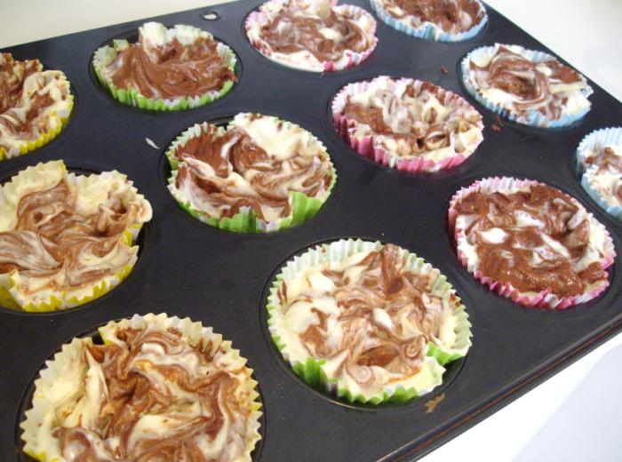 red velvet swirls (swirled pre baking)