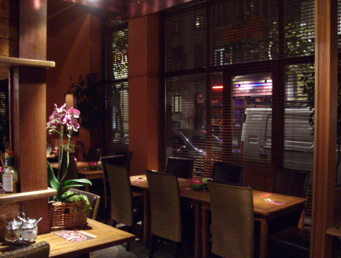 thai cafe interior