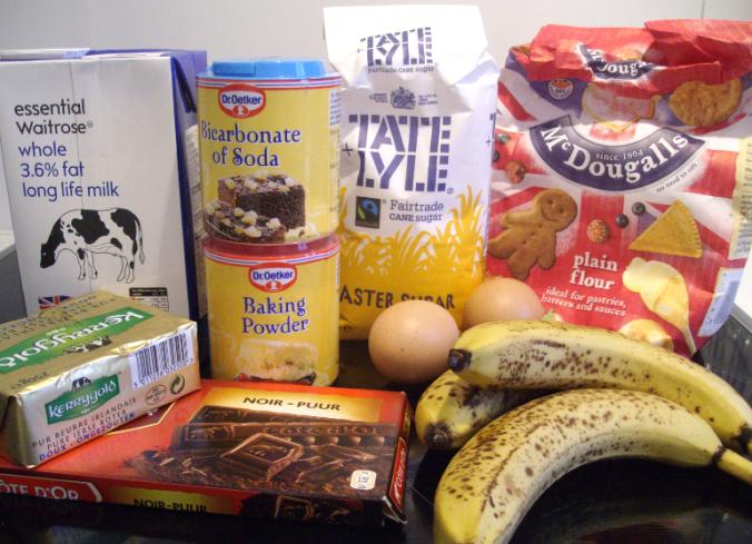 banana and chocchip muffins