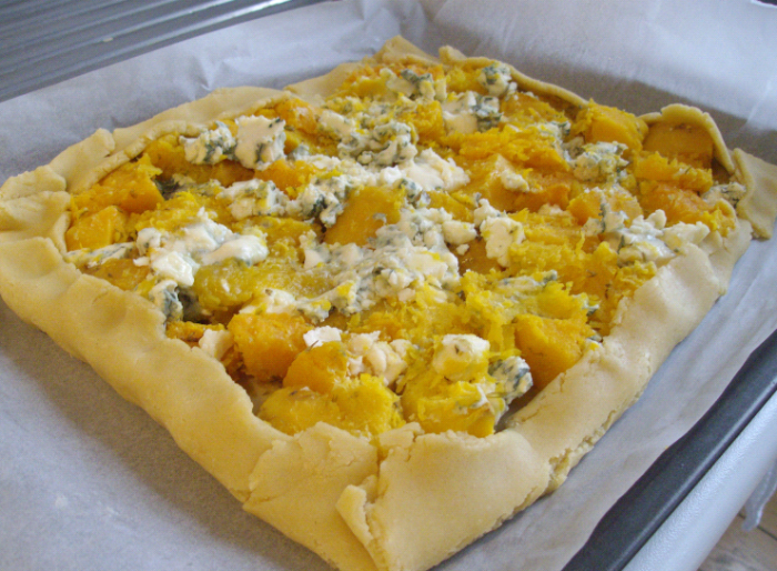 butternut and blue cheese tart pre-baking 2