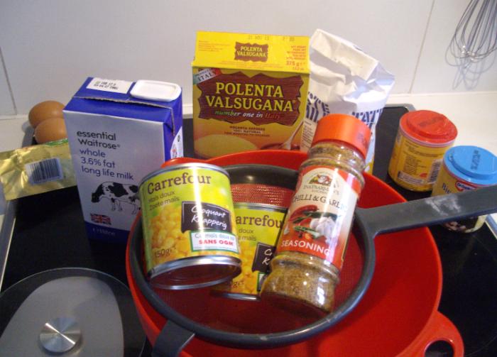 cheesy polenta cornbread