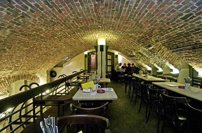 inside the cellar...