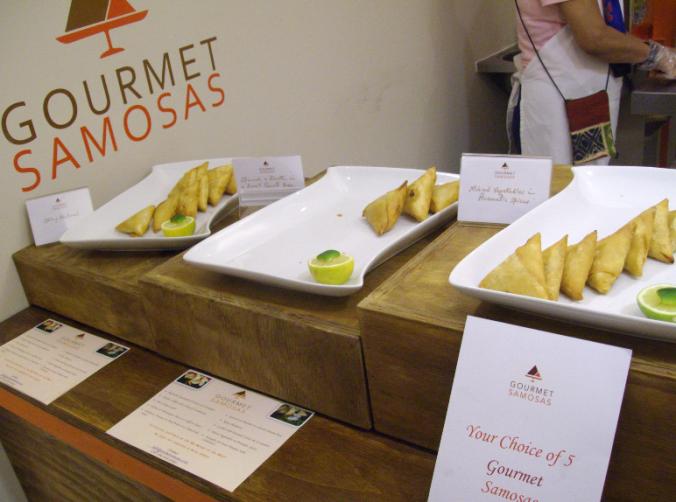 gourmet samosas stand