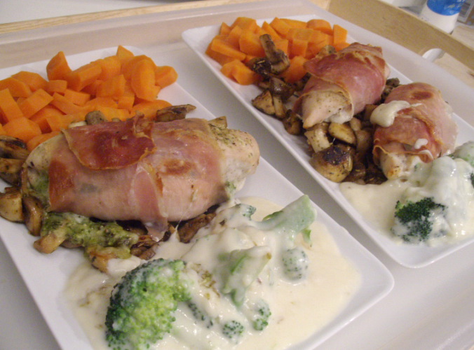 mozzarella and pesto stuffed chicken 6