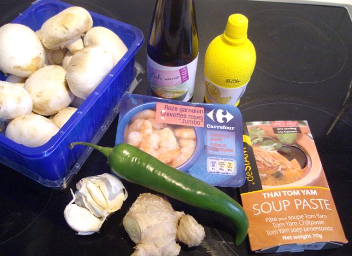 thai tom yam ingredients