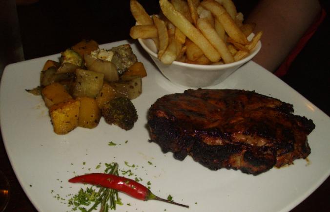 the avenue steak and veggies