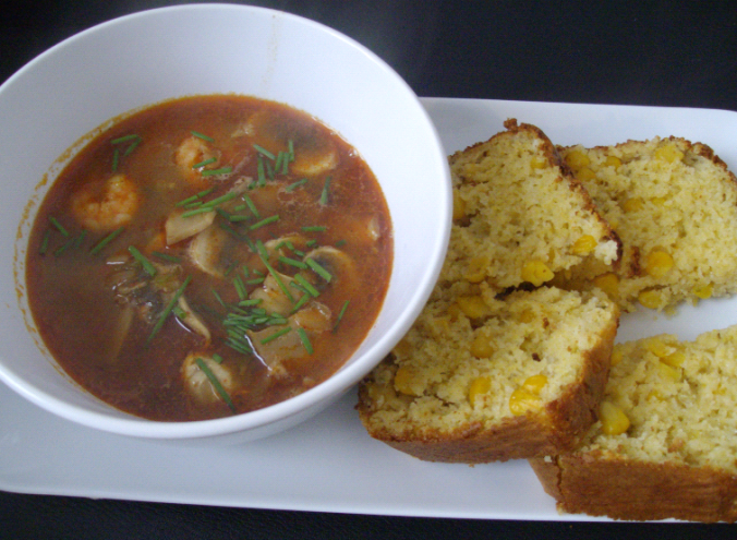 tom yam and cornbread