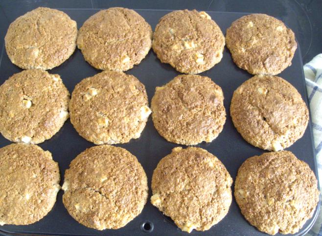 apple bran muffin tray