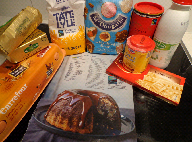marble cake ingredients