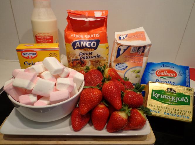 berry marshmallow cheesecake