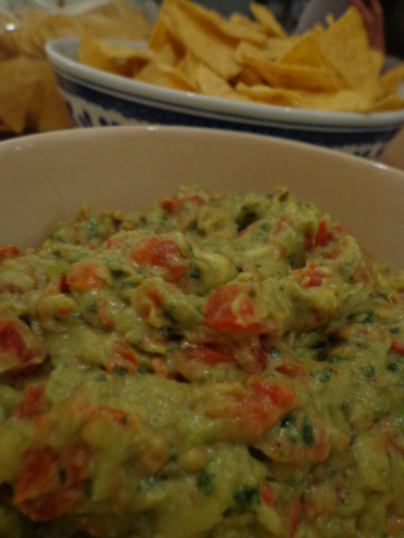 Guacamole and Torilla chips... YUM