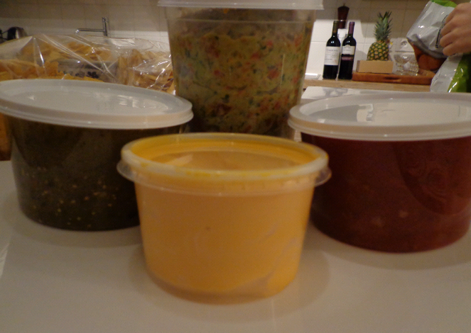 the array of sauces...