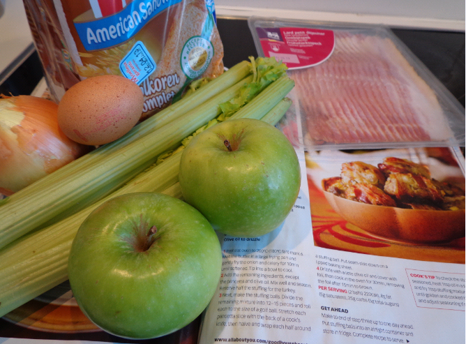 apple stuffing balls ingredients