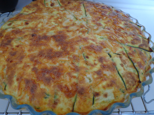 courgette quiche after oven