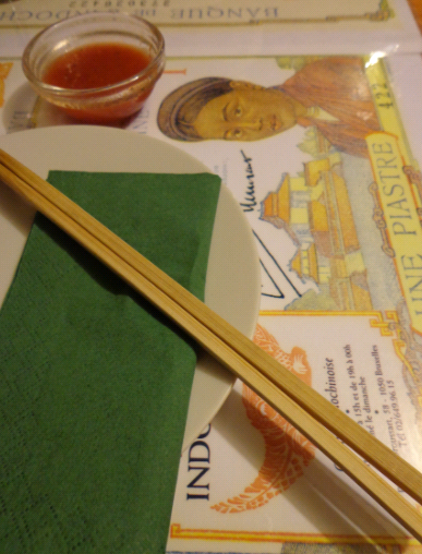 indochine place setting