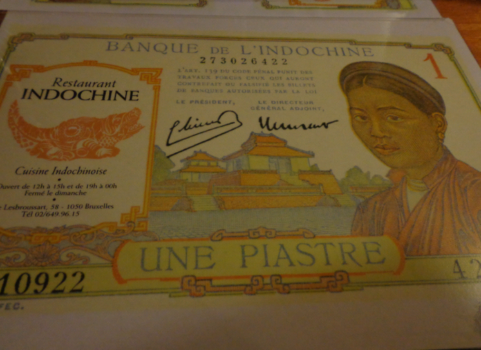 the placemats @ Indochine