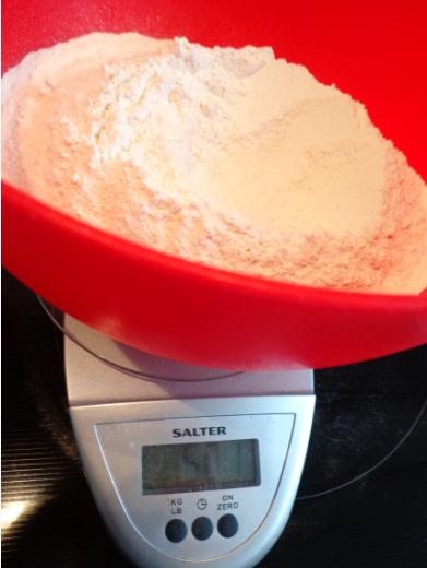 scone flour weigh in