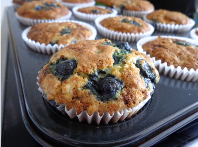 banana blueberry muffins final