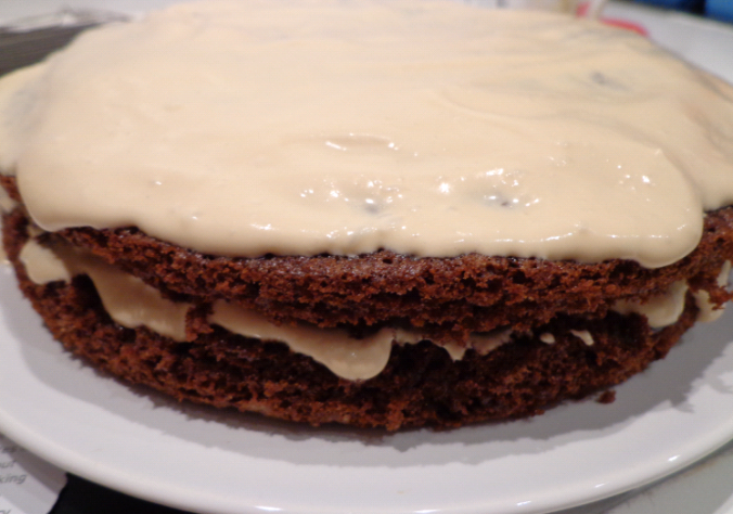 cappuccino cake iced