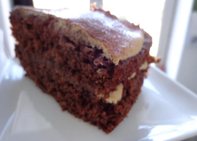 cappuccino cake slice