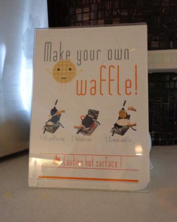 hotel bloom waffles
