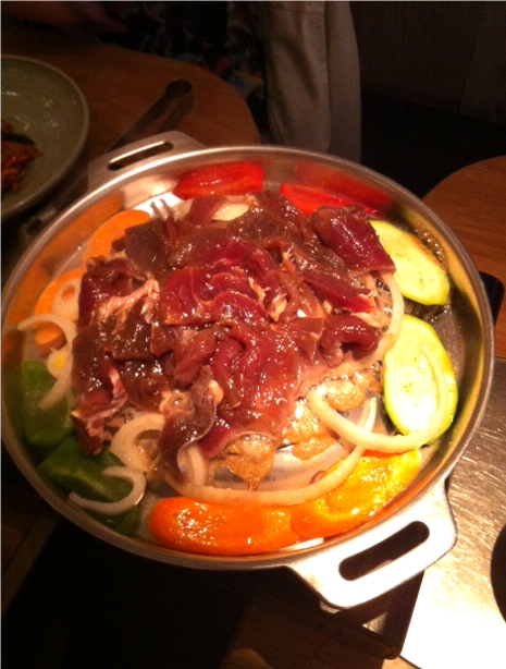 then the meat is added