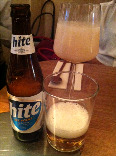 I would like to point out that there is NO *s* in front of hte name of my beer - it really is called HITE (Korean)