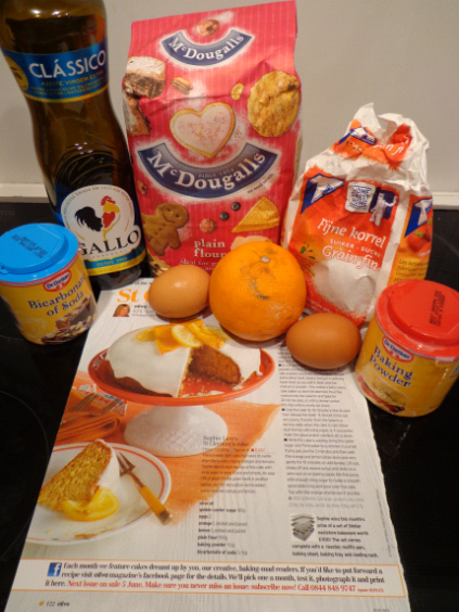 orange clementine cake ingredients