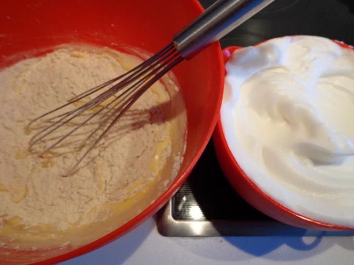 prosecco and orange cake mixtures