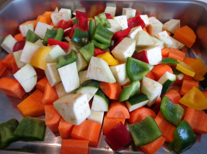 roast vegetables 5 peppers