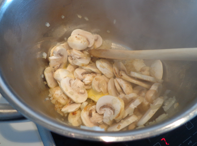 savoury rice mushrooms