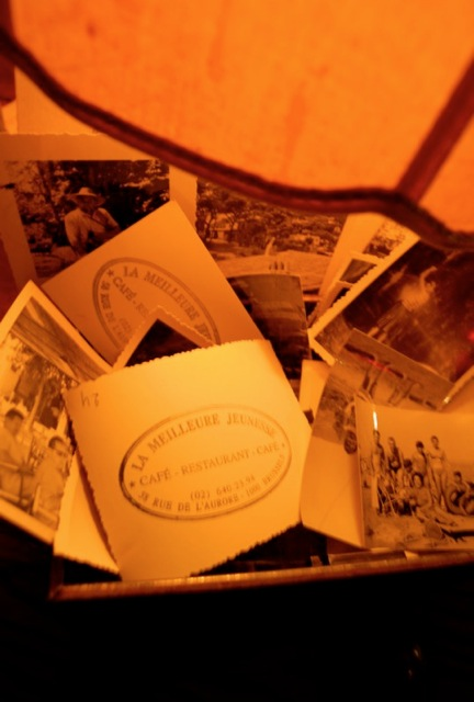 even their business cards are cool - they have used old photo's... and stamped the back! (photo credit: their website)