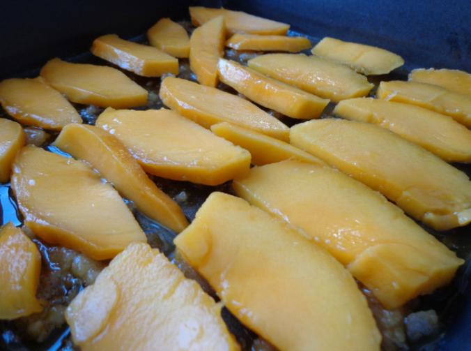 mango upside down cake mango on caramel