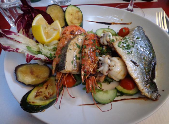 riccio fish platter