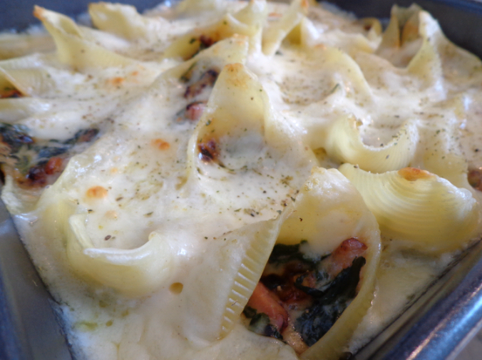 spinach stuffed pasta shells final