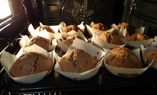 kasteel banana choc muffins oven