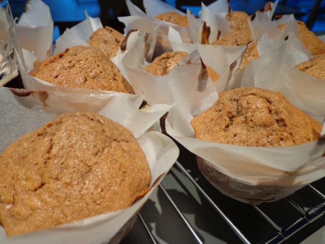 kasteel banana choc muffins