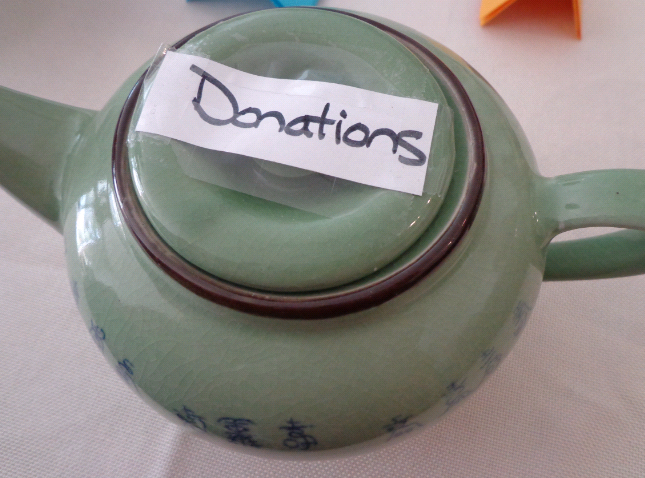 our donations teapot....