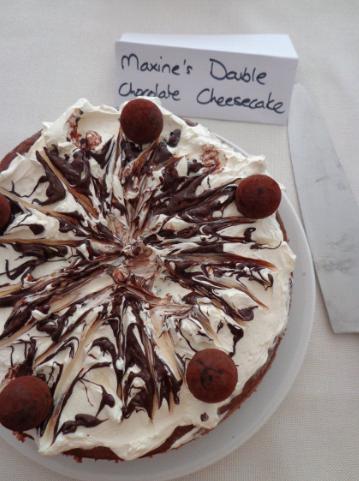 maxines double chocolate cheesecake
