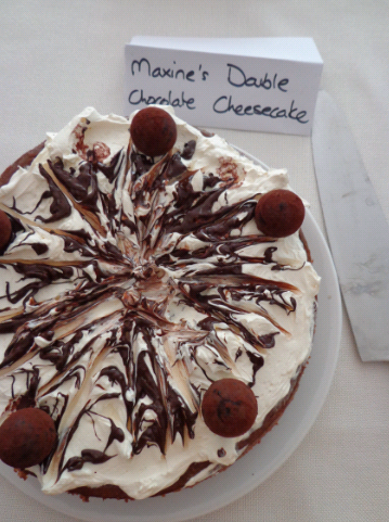 maxines double chocolate cheesecake