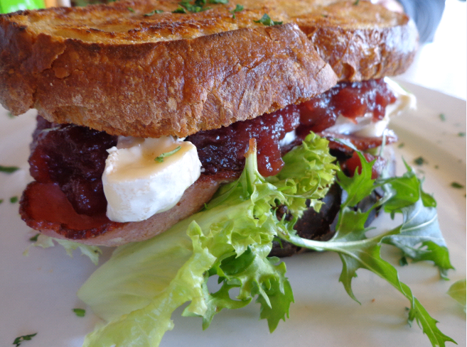 Tredici bacon and brie sandwich