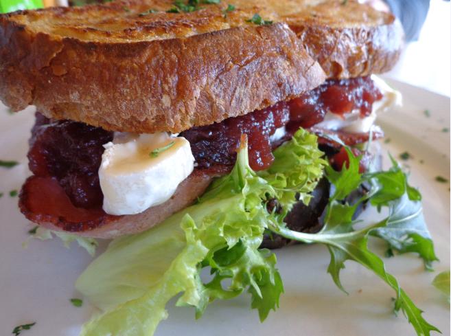 Tredici bacon and brie sandwich