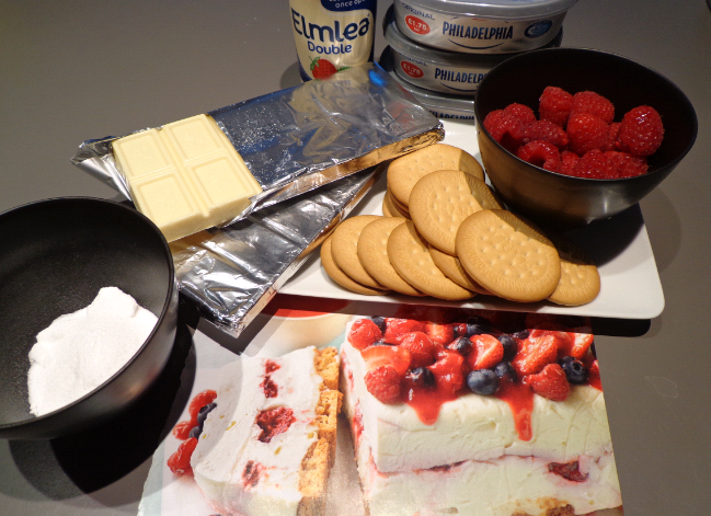 white chocolate berry cheesecake ingredients