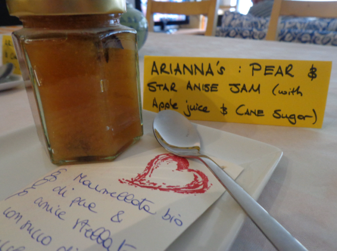 ariannas pear and star anise jam