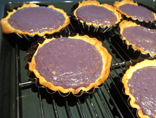 blueberry tart post oven