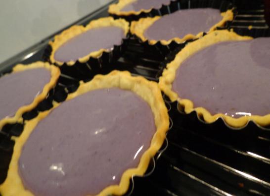 blueberry tart pre oven